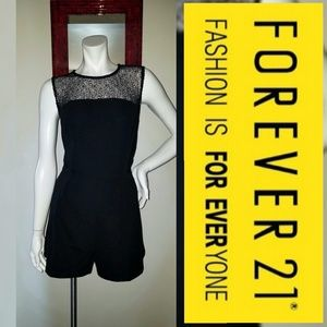Forevever21 Tailored Unique Black Romper Outfit